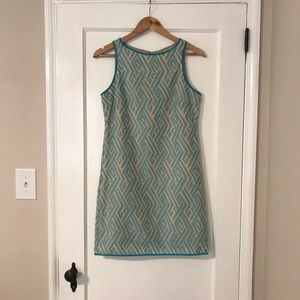 Chelsea and Violet Blue Embroidered Dress- XS